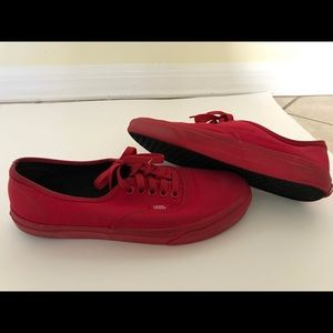USED vans authentic red